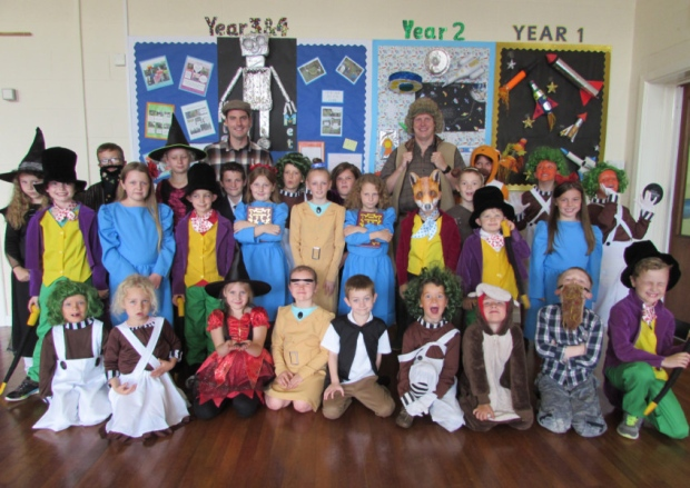 Children dress up for Roald Dahl Day