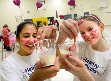 Aurora's Regency Acres Public School students mark parfait Valentine's Day