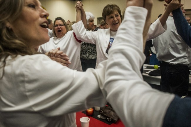 UAW officials vow on White Shirt Day to take back Michigan