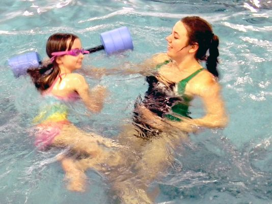 Second-graders get free lesson on how to swim