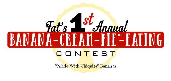 Fat's Restaurants to host its inaugural banana cream pie eating contest