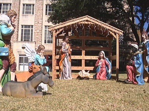Abbott Publicly Defends Courthouse Nativity Scene