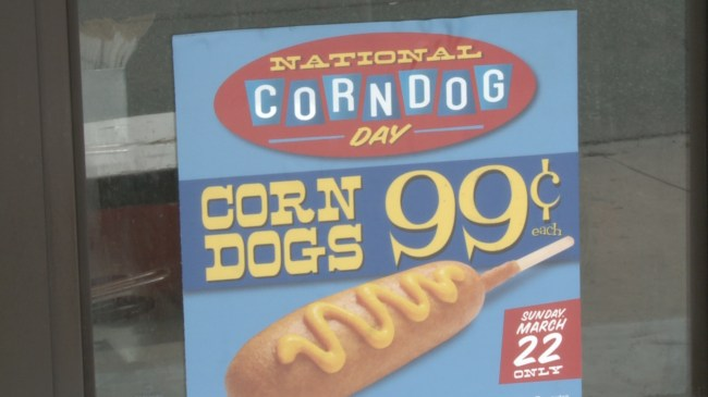 Weinerschnitzel sells corn dogs for 99-cents to celebrate National Corn Dog Day