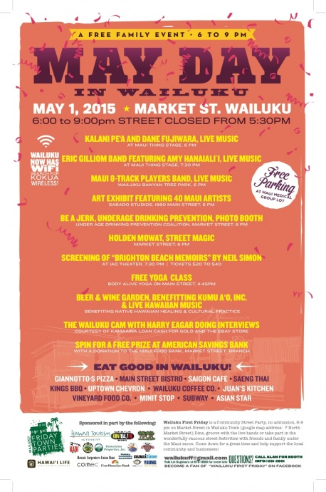Wailuku First Friday Town Party to Celebrate May Day-Lei Day