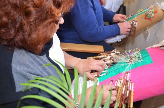 Visitors enjoy the craft of lace making at the annual Gozo Lace Day