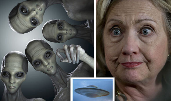Aliens may have visited: Shock Hillary Clinton claim as she vows to open 'UFO ...