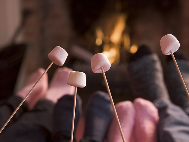 Celebrate Toasted Marshmallow Day with these Irish cream dipped marshmallows