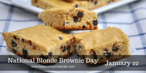 Today Is: National Blonde Brownie Day