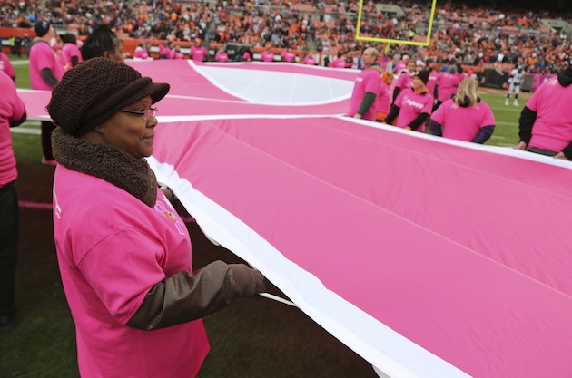 NFL's breast cancer awareness month more about style than substance
