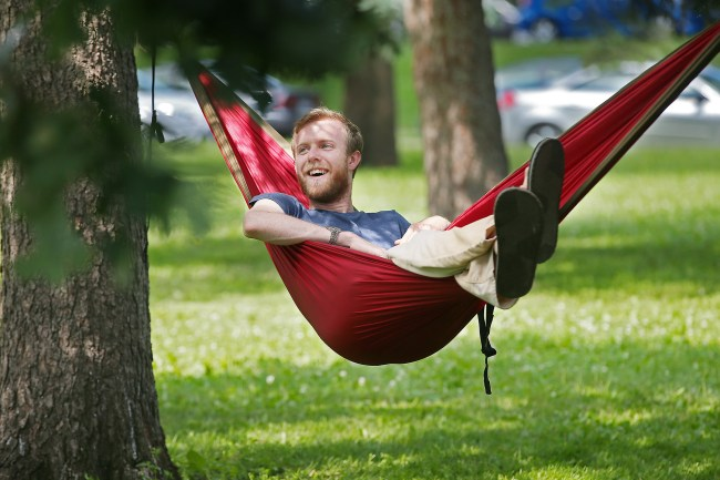 Hammocking is becoming a trend, thanks to more lightweight slings, a desire ...