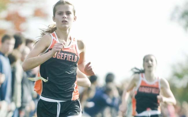 Ridgefield girls third at Open; Altopp second in boys' race