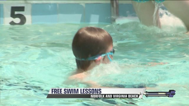 Free swim lessons offered in Norfolk, Virginia Beach