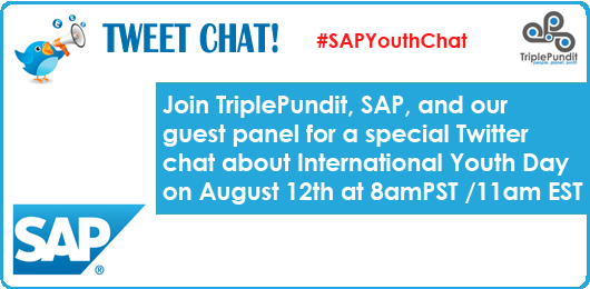 Twitter Chat: International Youth Day – 8/12 at #SAPYouthChat