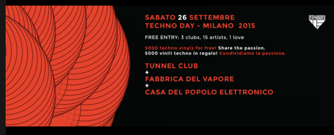 Techno Day 2015 | Milano | Programma