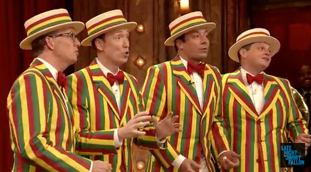 And Now Jimmy Fallon's Barbershop Quartet Singing 'I Wanna Sex You Up' Because ...