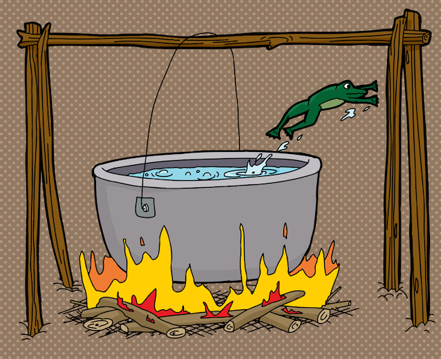 Stop Saying Humans Are Like 'Slowly Boiling Frogs'
