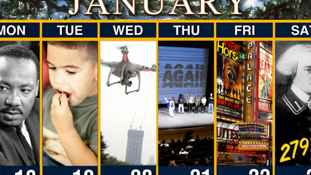 ​Calendar: Week from January 18