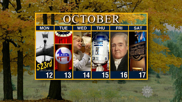 ​Calendar: Week of October 12