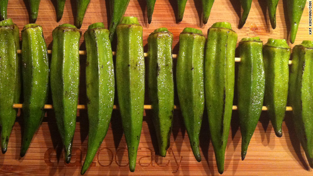 Okra - in season and 'snot just for frying
