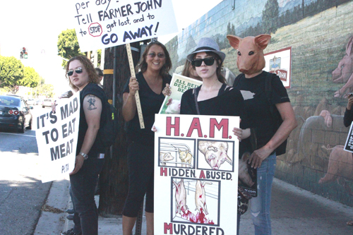 Farmer John Targeted by World Farm Animals Day Protest