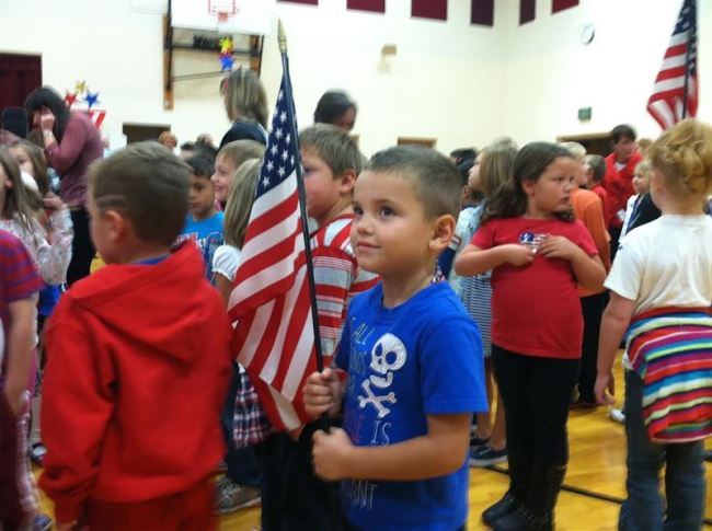 Wakarusa Elementary celebrates National Anthem Day