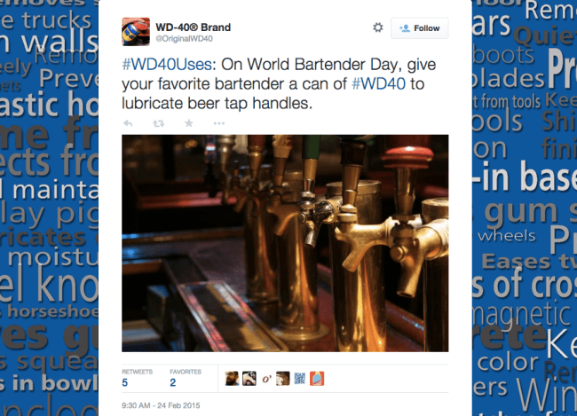 WD-40 Should Read Its Own Label Before Suggesting Bartenders Use A Toxic ...