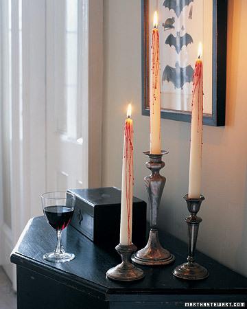 bleeding halloween candles Halloween, Martha Style