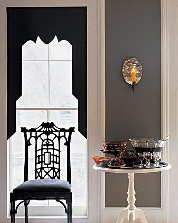 halloween paper curtain silhouettes Halloween, Martha Style