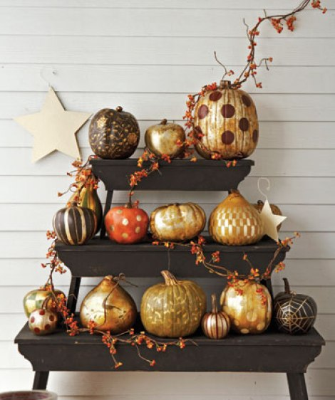 Gilded Pumpkins Country Living Easy Peasy Ways to Decorate a Pumpkin