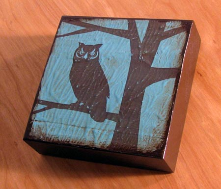 Owl Art Block by SuZanna Anna Hoot if You Love Owls