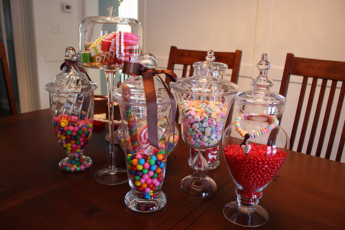 Candy Jars via flickr Decorating with Candy