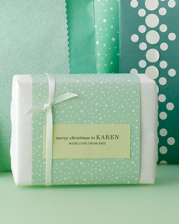 type written gift tags Christmas Gift Wrap Inspiration