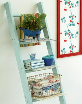 ladder shelf via bhg Organizing with Shelves and Bookcases