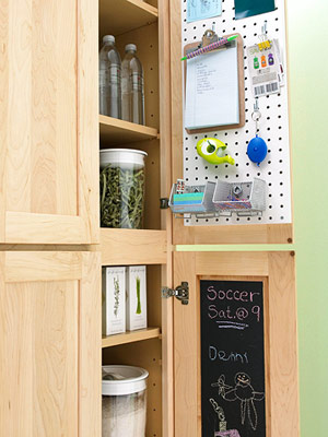 message center via bhg Stylish Storage