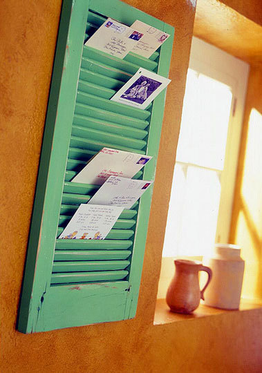 shutter mail holder via better homes and gardens Stylish Storage