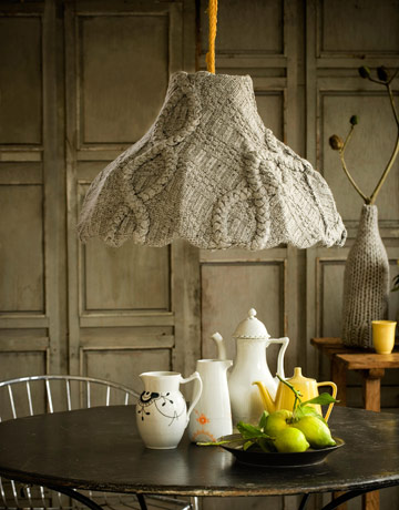 sweater pendant shade cozy via country living From Trash to Treasure