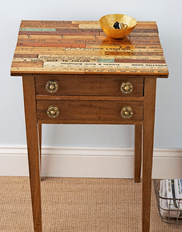 yardstick table via country living From Trash to Treasure