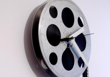 movietime clocks by kathy myers via designmilk Handmade Clocks