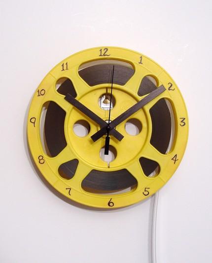 reel clock by movietimeclocks on etsy Handmade Clocks