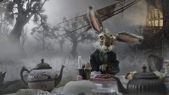 march hare alice in wonderland via blog.movieset Tim Burtons Alice in Wonderland