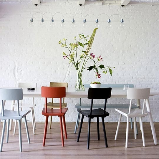 mismatching dining chairs via ohdeedoh Mismatched Dining Chairs