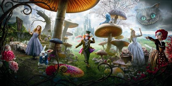 poster alice in wonderland via blog.movieset Tim Burtons Alice in Wonderland