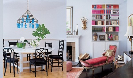 sarah jessica parker mismatched dining chairs via apartmenttherapy Mismatched Dining Chairs