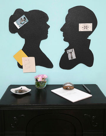 silhouette bulletin boards via country living Silhouettes