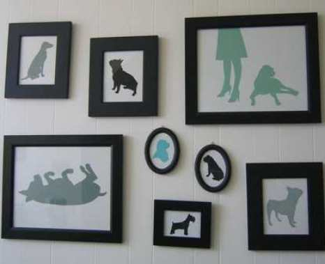 silhouettes grouping via apartmenttherapy Silhouettes