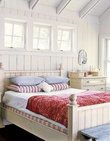white paneling bedroom via country living Why Men Fear Painting Wood