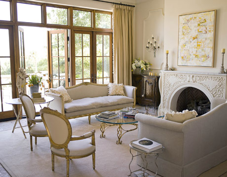 white living room via hb Gustavian Style