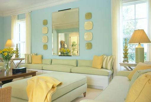 yellow and blue room via the lennoxxfiles wordpress A Fresh Take on Yellow and Blue Decorating