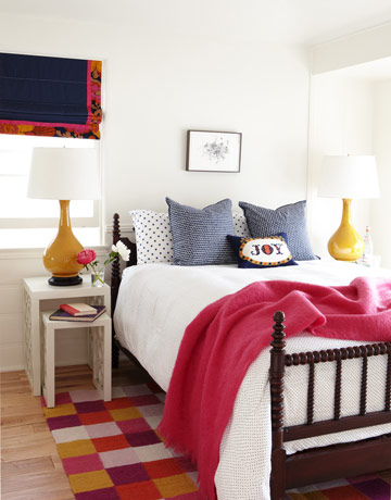 bedroom via hb Colorful Beach House