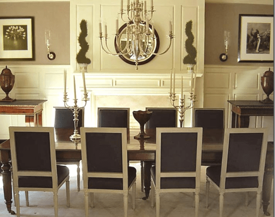 symmetrical dining room via cotedetexas How Symmetry Can Bring You Peace